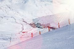 Pas de la casa mountain ski village Stock Image