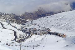 Pas de la case Village, Andorre photo stock