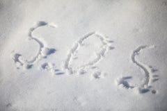 PAS geschrieben in den Schnee stockbild