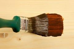 Pas houten kleur toe Royalty-vrije Stock Afbeeldingen