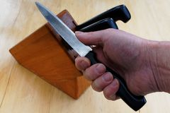 Pas le couteau le plus pointu dans le bloc images stock