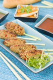Pas mentionné ailleurs Nuong Xa - saucisses de proc hachées vietnamiennes Photos stock
