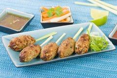 Pas mentionné ailleurs Nuong Xa - saucisses de proc hachées vietnamiennes Photo stock