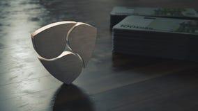 Pas mentionné ailleurs symbole métallique de cryptocurrency illustration 3D illustration libre de droits