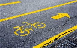 Pas ruchu dla bicyklu Zdjęcia Stock