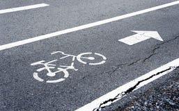 Pas ruchu dla bicyklu Fotografia Stock
