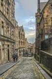 Pas ruchu w Edynburg Starym miasteczku Obrazy Royalty Free