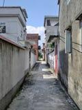 Pas ruchu w nowożytnej Chińskiej wiosce Fotografia Royalty Free