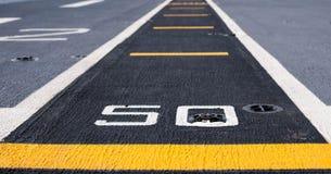Pas startowy przy start na pancerniku Obraz Stock