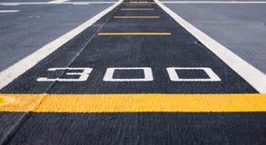 Pas startowy przy start na pancerniku Zdjęcia Stock