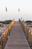 Pas startowy w drewnie przy morzem Fotografia Stock