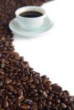 Pas une configuration compliquée des graines de café Images stock