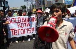 Pas une ville de terroriste images libres de droits