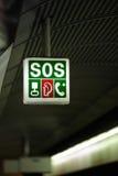 PAS-Zeichen an der Bahnstation Lizenzfreies Stockbild