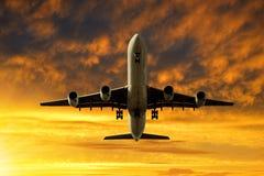 Pasażerski samolot zdjęcie royalty free