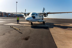 Pasażerski samolot, przylądek Verde, Afryka Fotografia Stock