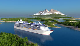 Pasażerski statek Obraz Royalty Free