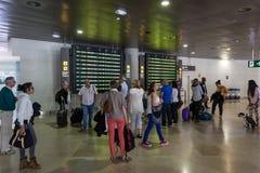 Pasażery czeka lot Fotografia Stock