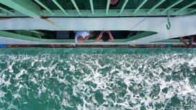 Pasażery patrzeje przez promu okno fotografia royalty free