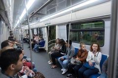 Pasażery podróżuje na metrze Obrazy Stock