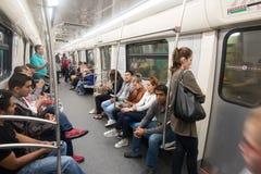 Pasażery podróżuje na metrze Fotografia Royalty Free