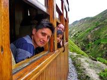 Pasażery turysta trenują w Alausi, Ekwador fotografia stock