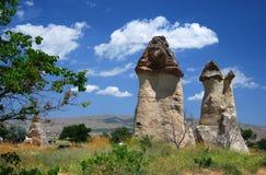 Pasa Baglari Park (Turkey). Pasabaglari (Pasabag Valley) Is located 1 km off the Zelve turn on the Goreme - Avanos road. The tallest fairy chimneys, some multi royalty free stock photography