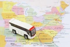 Pasażerska autobusowa mapa Obrazy Stock