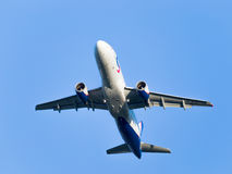 Pasażerski samolot Aerobus A320-214 Ural Airlines Fotografia Royalty Free