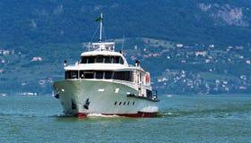 Pasażerski statek na Jeziornym Balaton Zdjęcia Royalty Free