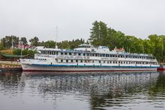 Pasażerskiego statku ` Admiral Kuznetsov ` wyspa Valaam, republika Karelia Federacja Rosyjska 26 2017 Sep Obraz Royalty Free
