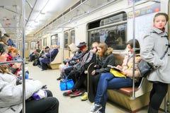 Pasażery w metrze Obrazy Royalty Free