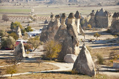 Pasabag. The Pasabag (Monks Valley) with Fairy Chimney rock formations in Cappadocia at sunny autumn day Royalty Free Stock Photo