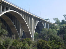 Pasadena Bridge. A photograph of a highway bridge in Pasadena, California Royalty Free Stock Image