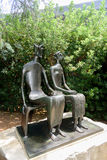 `King and Queen` by Henry Moore at the Norton Simon museum Royalty Free Stock Photography