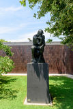 The Thinker of Auguste Rodin in the Norton Simon Museum Royalty Free Stock Photo
