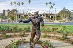 Jackie Robinson Memorial Statue at Rose Bowl royalty free stock photography