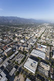 Pasadena California Afternoon Aerial View. Aerial view of Pasadena and the San Gabriel Valley near Los Angeles, California Royalty Free Stock Images