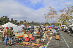 Pasadena, California, USA - January 10, 2016: The famous flea ma Royalty Free Stock Photos