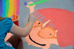 Pasadena Chalk Festival Royalty Free Stock Photo