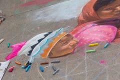 Pasadena Chalk Festival Stock Photo