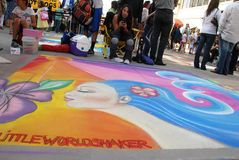 Pasadena Chalk Festival June 19 2011 Royalty Free Stock Photos