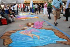 Pasadena Chalk Festival June 19 2011 Stock Photos
