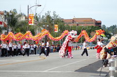 PASADENA Chinese Lunar New Year Parade Stock Images