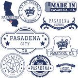 Pasadena city, CA. Stamps and signs Stock Photography