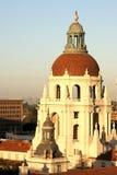 Pasadena City Hall. The domed tower of the Pasadena City Hall at sunrise Stock Photos