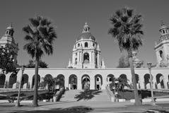 The Pasadena City Hall. Pasadena City Hall in California - black and white photo Stock Photos