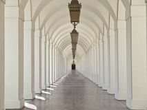 Pasadena City Hall Courtyard Arches. Graceful arches in the courtyard of Pasadena California's historic City Hall Royalty Free Stock Image