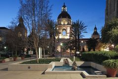 The Pasadena City Hall in Southern California. The Pasadena City Hall in Los Angeles county is a landmark listed in the National Register of Historic Places stock photography