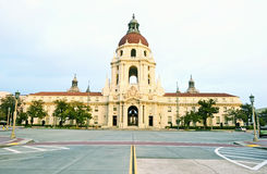 Pasadena City Hall. Wide angle frontal view of the Pasadena City Hall on a beautiful winter day in southern California Royalty Free Stock Image